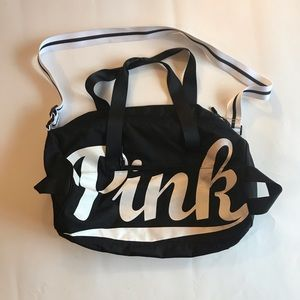 PINK Victoria's Secret Duffel Athletic Bag Black